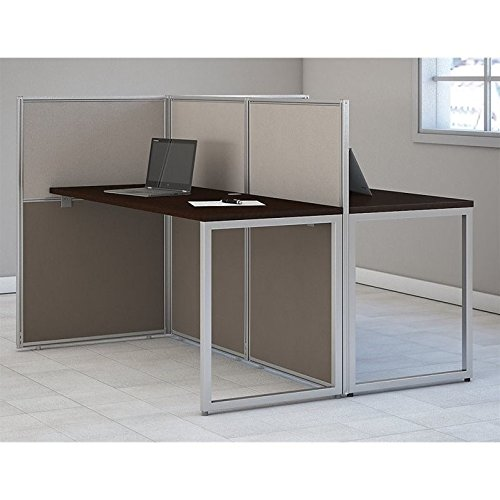 Bush Business Furniture Easy Office 60W Two Person Straight Desk Open Office in Mocha Cherry by Bush Business Furniture