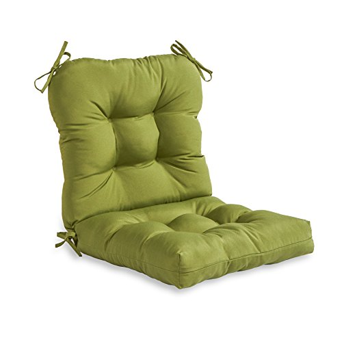 Greendale Home Fashions Outdoor Seat/Back Chair Cushion, Summerside Green (For Replacement Furniture Cushions Patio Seat)