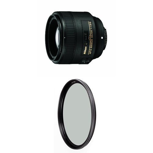 Nikon 85mm f/1.8G Auto Focus-S NIKKOR Lens for Nikon Digital SLR Cameras - Fixed w/ B+W 67mm XS-Pro HTC Kaesemann Circular Polarizer