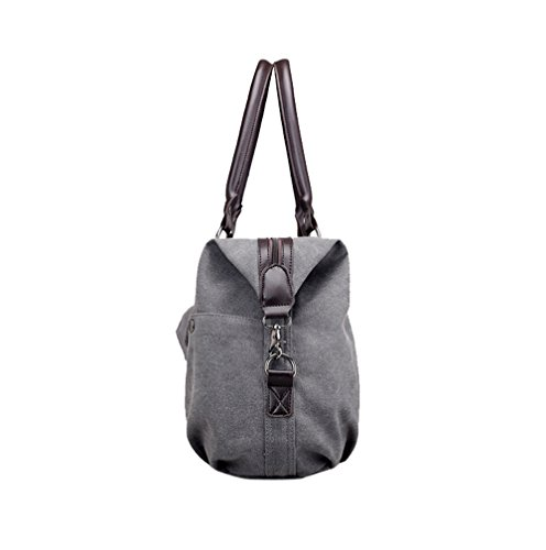 Work Weekend Handbag for Shopping Big Tote Canvas Bag Bag Women Lonson Blue qRfwEZI64Z