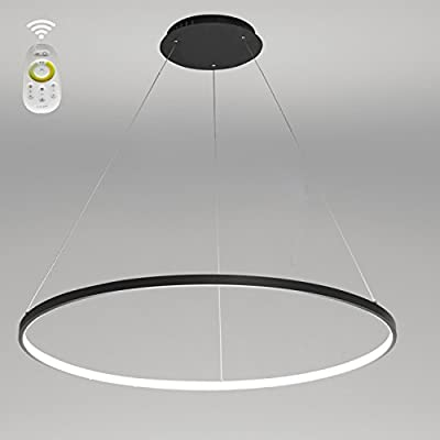 LightInTheBox Dimmable Remote Control Acrylic Chandelier Modern 80cm Cut LED Ring Pendant Light With Oval 1 Ring Max 40W Chrome Finish,Ceiling Light Fixture