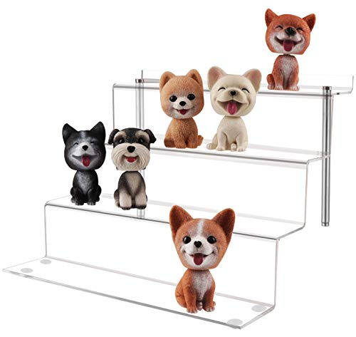 (LILEZBOX Acrylic Display Stand for Funko Pops Amiibo Figures, Large 4 Step Display Riser Shelf for Cupcake Dessert Product 12x11x8.8 Inch - 1 Pack [Upgraded])