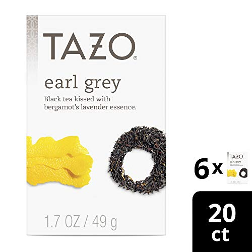 Tazo Earl Grey Black Tea Filterbags, 20 Count (pack Of 6)