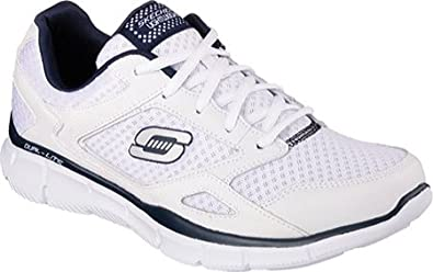 Skechers Men's Equalizer, WhiteNavy, US 9 M: Amazon.co.uk