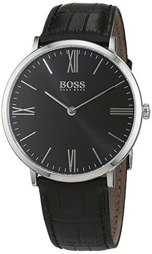 Hugo Boss Jackson Steel Mens Strap Watch Quartz BlackDial 1513369