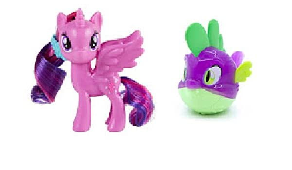 Amazon My Little Pony The Movie Canterlot Seaquestria Castle Princess Twilight Sparkle And Spike Pufferfish Figures Loose Toys Games