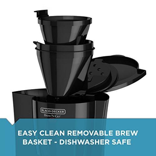 BLACK+DECKER DCM18S Brew 'n Go Personal Coffeemaker with Travel Mug, Black/Stainless Steel by Black & Decker (Image #3)