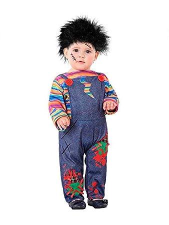 DISBACANAL Disfraz Muñeco diabólico bebé - -, 36 Meses: Amazon.es ...