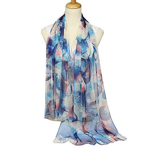 ChikaMika Floral Scarves for Women Soft Scarf Lightweight Scarves (navy green) (Floral Soft Scarf)