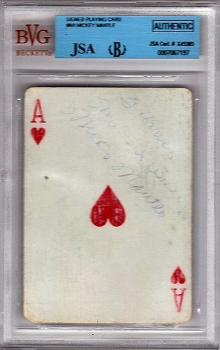 [Mickey Mantle Signed Playing Card, Rookie Era Signature, - JSA Certified] (Mickey Mantle Signature)