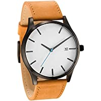 Casual Watch For Men Analog Leather - Yos-012 - 2724521270374