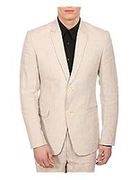 Wintage Men's 100% Linen Notch Lapel All Season Natural Color Blazer