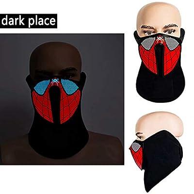 LED Light Up Mask, Voice Control Luminous Glowing Seamless Bandana Tube Masks, Flashing EL Face Shield Mask: Clothing