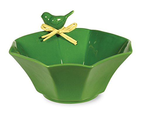 Boston International Bird Ceramic Bowl, (Bird Round Dish)