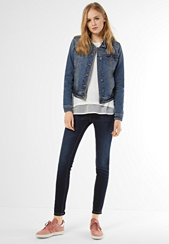 Street One - Chaqueta - Básico - Manga Larga - para mujer authentic indigo blue wash