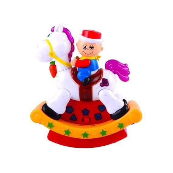 Musical Swing Hobby Horse Toy with Unique Light Projection and Songs for Kids, Can be an Attractive & Excellent Gift