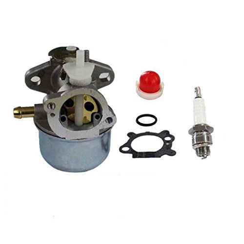 HURI Carburetor with Gasket Primer Bulb Spark Plug for Briggs & Stratton 499059 494217 Small Gas Engine Motor 4HP 5HP 6HP 7HP