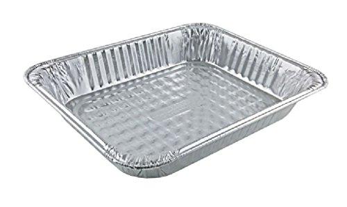 "1/2 Half-Size Medium (2 3/16"" Deep) Aluminum Foil Steam Table Pans 100 Pack"
