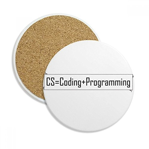 CS Contains Coding And Programming Ceramic Coaster Cup Mug Holder Absorbent Stone for Drinks 2pcs - Coasters Programming