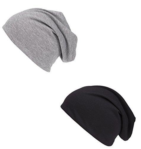 doble Pack punto Shenky de gris negro y Unisex Gorro XInnzPx