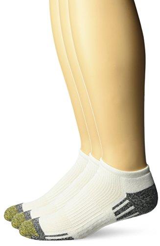 Gold Toe Men's Outlast No Show Socks, 3-Pack, White, Shoe Size: (Tec Socks)