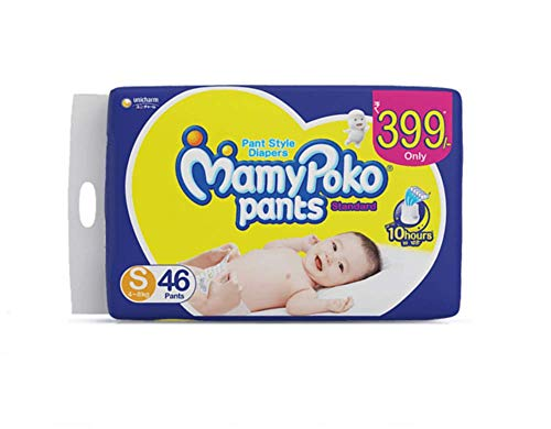MamyPoko Pants Standard Pant Style Small Size Diapers  46 Count