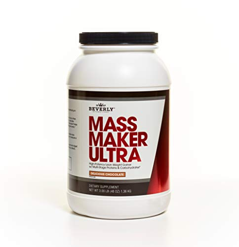Beverly International Mass Maker Ultra Chocolate, 23 servings. Strongmen and mass monsters swear by this lean weight gainer.