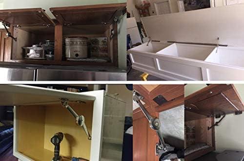 MDCN 2 bisagras de parada al azar para puerta de armario de cocina, bisagra de pulido ajustable al azar, tapa plegable, soporte de sujeción (2 piezas): Amazon.es: Bricolaje y herramientas