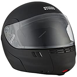 Studds Full Face Helmet Ninja 3G (Eco Cherry Red, M) & Universal Helmet Security Guard/Lock for Fender Fitment
