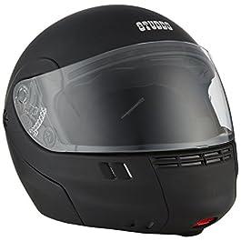 Studds Ninja 3G ECO Flip Up Full Face Helmet (Black, L)