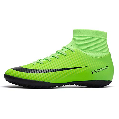 Rainbow Dream top Football Shoes Men and Women Football Training Shoes Adult TF Broken Nails Grass Training Shoes Green