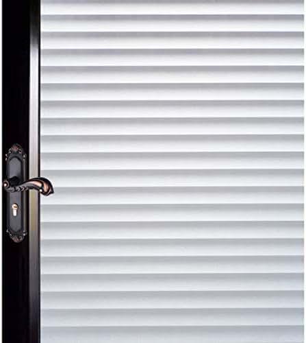 DUOFIRE Window Film Blinds Pattern Privacy Window Film Glass Film Static Cling Glass Film No Glue Anti-UV Window Sticker for Bathroom Bedroom Living Room DP040 (17.4 x 78.7 inch)