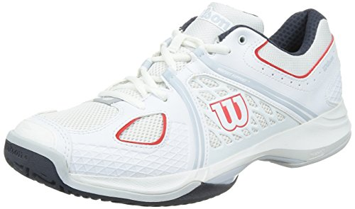 free shipping limited edition Wilson Men's Nvision Tennis Shoe White//Coal/Red cheap footlocker pictures buy cheap shop offer twFe7h