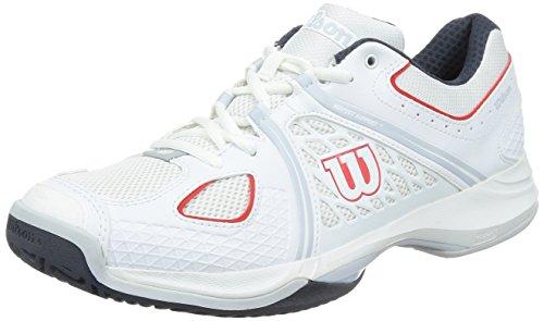 Wilson Heren Nvision Tennisschoen Wit // Kolen / Rood