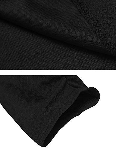 Beyove Women's 3/4 Sleeve Blazer Open Front Cardigan Jacket Work Office Blazer Black S by Beyove (Image #6)