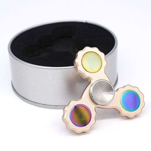 50 Hybrid (RESTER Hybird Tri Hand Spinner Fidget Toy with Ceramic Stainless Steel Bearings For ADHD, Relieve-Anxiety,Quitting Bad Habits--Last 2 To 5)