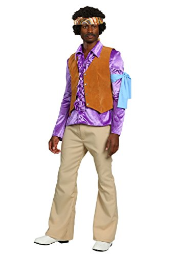 Hendrix Halloween Costume (Adult Jimi Hendrix Costume Medium)