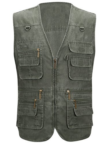 Alipolo Mens Casual Work Utility Hunting Travels Sports Vest