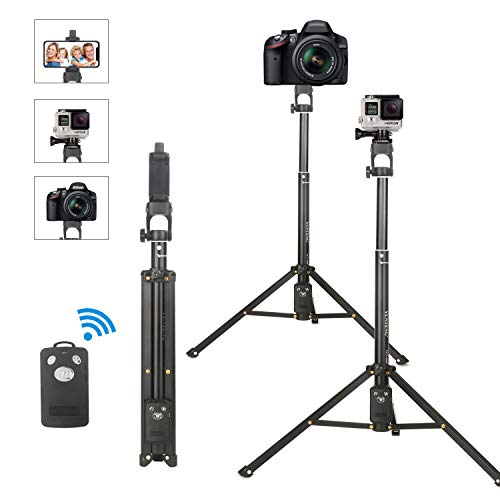 Selfie Stick Tripod,Extendable Portable Selfie Stick with Bluetooth Wireless Remote and Tripod Stand for iPhone X/8/iPhone 8 Plus/iPhone 7/iPhone 7 Plus/Galaxy Note 9/8/S9 /S8 (53inch)