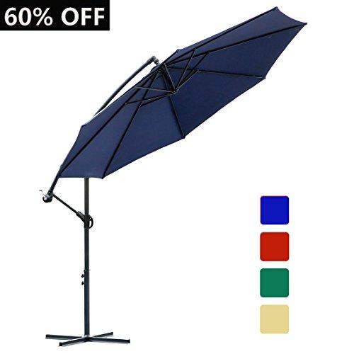10 Ft Lighted Patio Umbrella Trademark Innovations