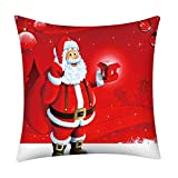 Merry Christmas Throw Pillow Case Santa Claus Snowflake Reindeer Cushion Cover Home Decor Xmas Gifts for Sofa Car 18