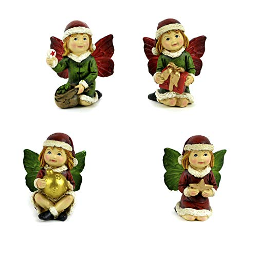 Midwest Design Imports, Inc. Christmas Fairy Figurines, Set of 4]()