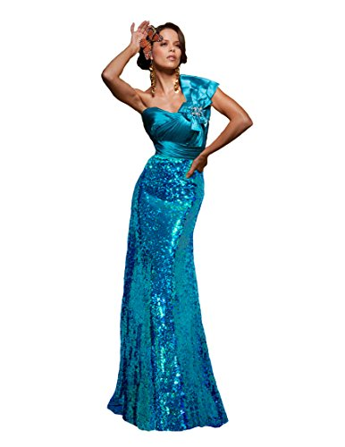 Tony Bowls One Shoulder Dress 111539, Blue, 4