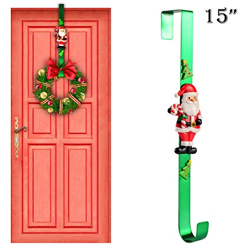 "Joiedomi 15"" Christmas Metal Wreath Hanger with Santa Claus ()"