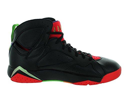 KKDO Air 7 Slip Resistant Men's Basketball Shoes Retro Sneakers Blck/Unvrsty RD/GRN Pls/CL Gry Men's12.5 US=47EU
