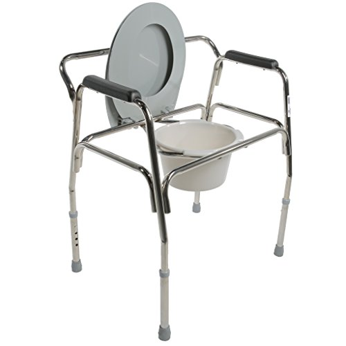 Pcp Heavy Duty Bariatric Commode Toilet with Wide Steel Frame, Chrome by PCP (Image #3)