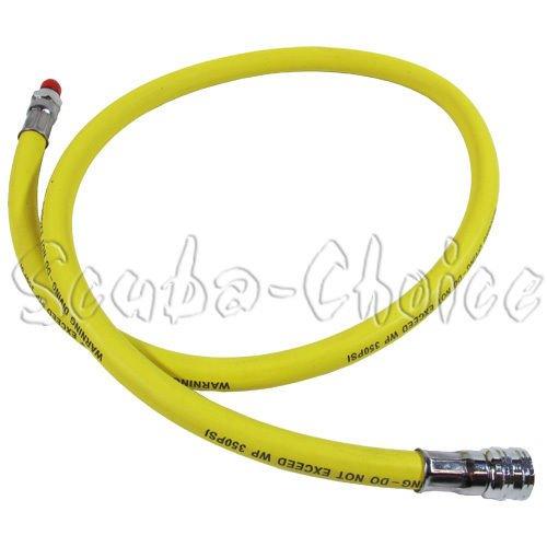 Latiguillo para regulador de buceo de baja presión - Amarillo - 350psi - 91, 44cm Scuba Choice SCLP-36YL-350