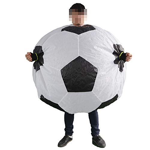 LOVEPET Football Inflatable Costume Funny Cheerleader Cheering Football Costume Suitable for Cheering for Your Favorite Team and Star -
