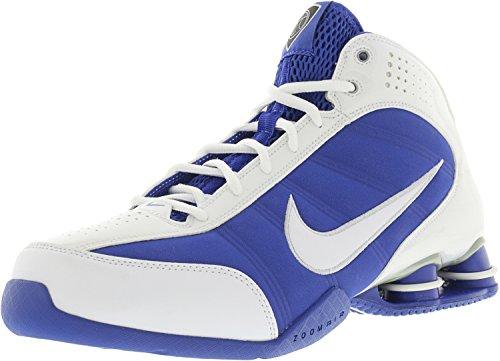 Nike Women's Shox Vision White/White-Varsity Royal-Metallic Silver High-Top Basketball Shoe - 10.5M by NIKE