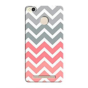 Cover It Up - Pink and Grey Jagged Redmi 3s PrimeHard Case
